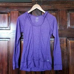 Avia purple athletic longsleeve hoodie top
